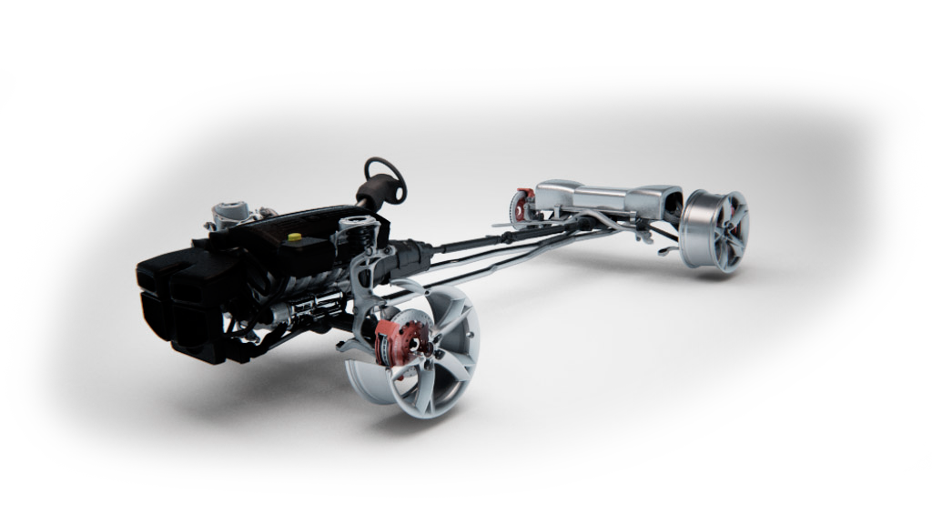 lightweight automobile chassis